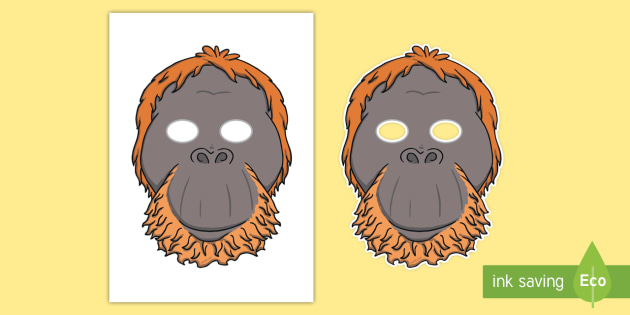 It is a graphic of Printable Monkey Mask intended for panda mask