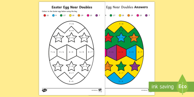Near Doubles To 20 Differentiated Worksheets Twinkl