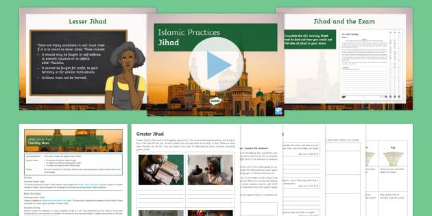 Jihad Lesson Pack - Islamic Practices, Islam, Jihad, Holy War, War, Conflict