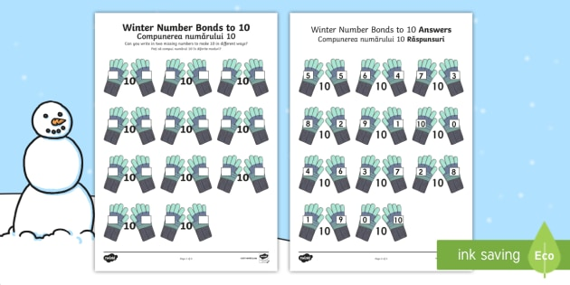 20 Lovely Number Bonds for 10 Worksheets and Resources Images ...