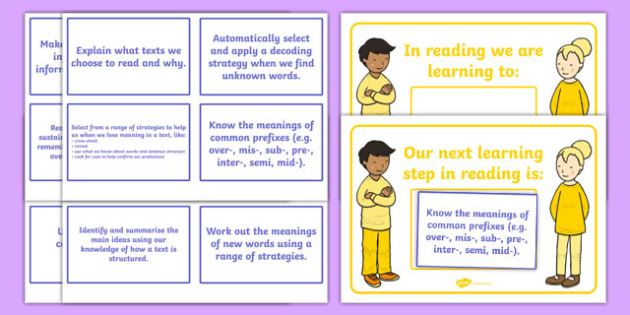 New Zealand Reading End of Year 4 WALT, Learning To, and Next Steps Display Posters