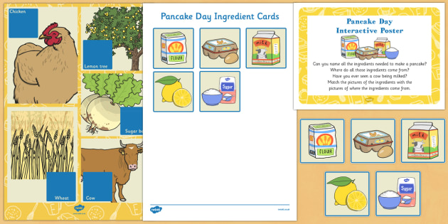 Pancake Day Interactive Poster and Prompt Card Pack - Shrove Tuesday, pancake day, poster, display, prompt card, pack