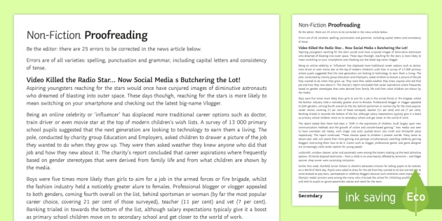 Writing a news article esl practice