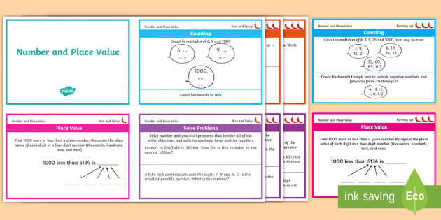 Year 4 Maths Place Value Chilli Challenge Cards - activities, ks2, lks2, y4, number system, independent work, revision, assessmentr