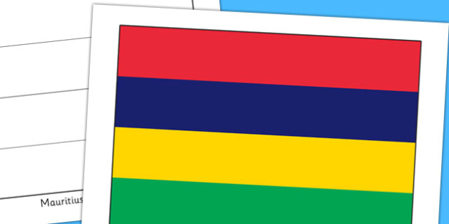 Mauritius Flag Display Poster - countries, country, geography