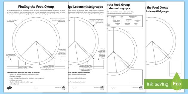 finding the food group worksheet activity sheets. Black Bedroom Furniture Sets. Home Design Ideas