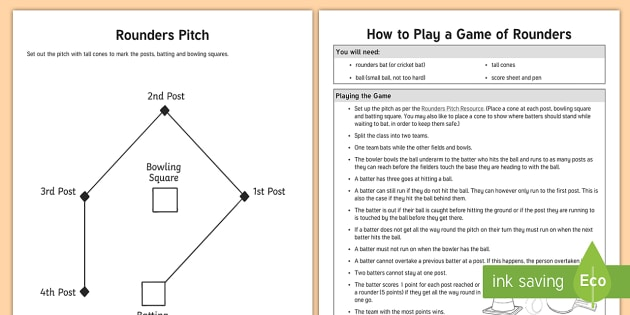 Rounders Activity Pack Pe Summer Pitch Set Up Plan