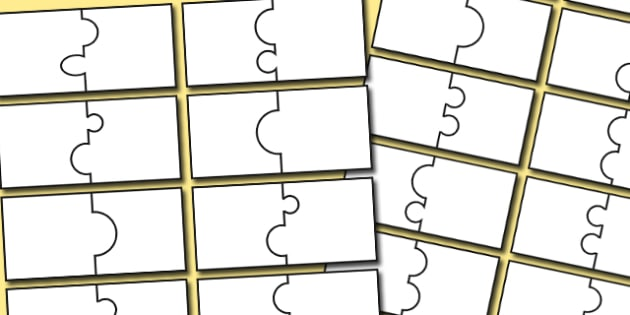 Editable Matching Jigsaw Template Jigsaw Template Matching