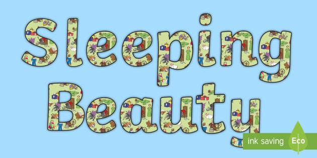 Sleeping Beauty Display Lettering - sleeping beauty, display lettering, lettering, lettering for display, themed lettering, classroom display, class display