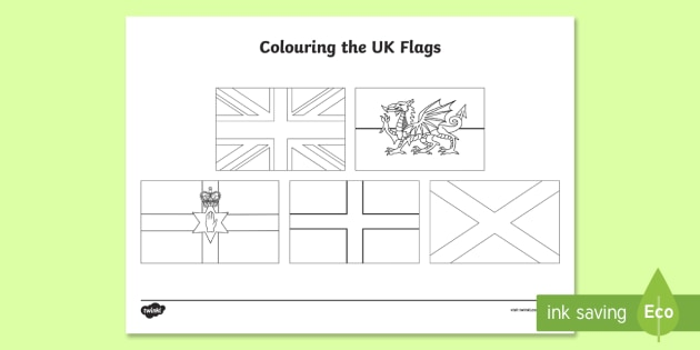 Our Country UK Flags Coloring Page Coloring Pages - Our ...
