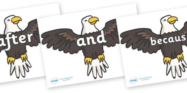 Connectives on Eagles - Connectives, VCOP, connective resources, connectives display words, connective displays
