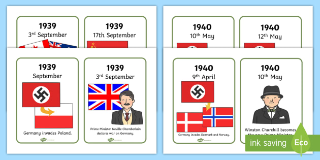 World war two interactive timeline and map powerpoint world world war two timeline cards gumiabroncs Images