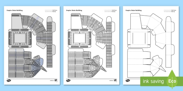 Empire State Building Paper Craft Empire State Building New