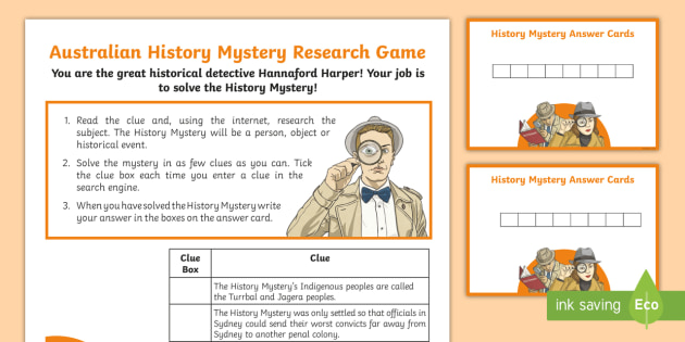 Brisbane History Mystery Research Game - ACHASSK063