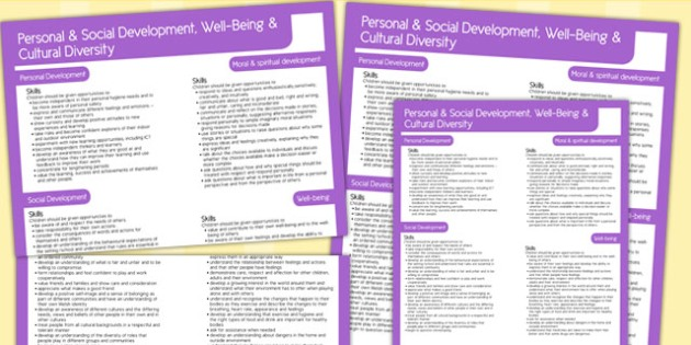 Welsh Curriculum Personal Social Well Being Cultural Diversity