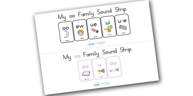 My Oo Family Sound Strip - sound family, visual aid, literacy