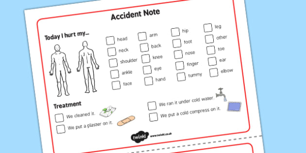 Visual Accident Note - visual, accident note, accident, note