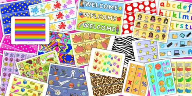 Display Border Variety Pack - displays, borders, packs, variety