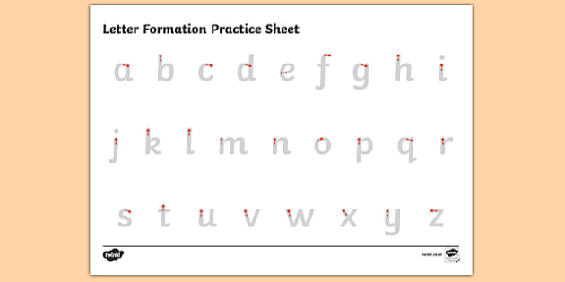 abc letter formation alphabet handwriting practice sheet. Black Bedroom Furniture Sets. Home Design Ideas