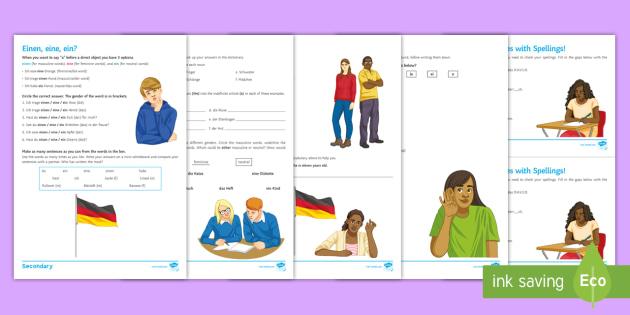 independent grammar resources differentiated worksheet worksheets german. Black Bedroom Furniture Sets. Home Design Ideas