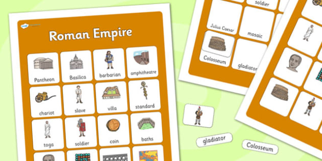Roman Empire Vocabulary Poster - roman empire, display posters, themed posters, image, pictures, key words, roman empire vocabulary, vocabulary, vocab