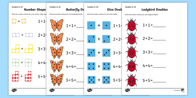 Doubles To 10 Worksheet Activity Sheets Worksheets Doubles