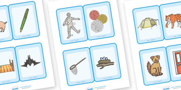 Phonology Flash Cards With Images - flashcards, sen, recognising sounds, sound, intial letter, a-z, sound recognition, card, phonology, phonemes