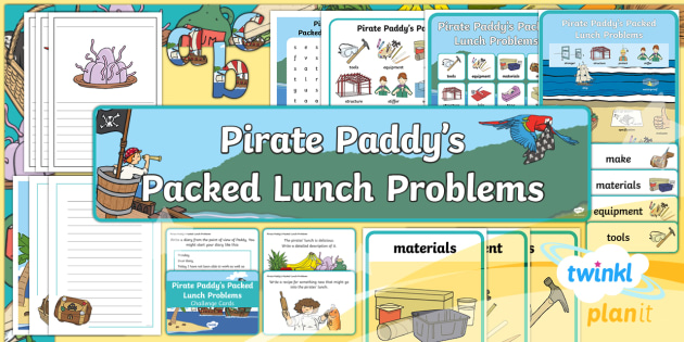 D&T: Pirate Paddy's Packed Lunch Problems KS1 Unit Additional Resources