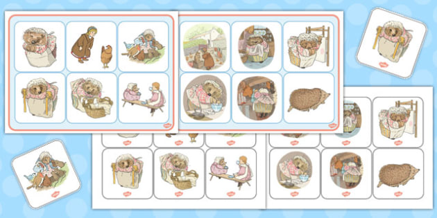 The Tale of Mrs Tiggy Winkle Matching Mat - mrs tiggy winkle
