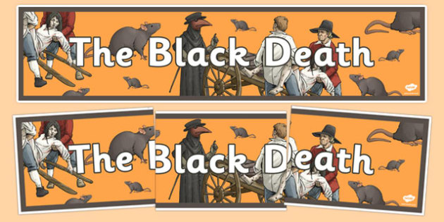 The Black Death Display Banner - the black death, display banner, banner, display, banner for display, black death banner, black deathn header, header