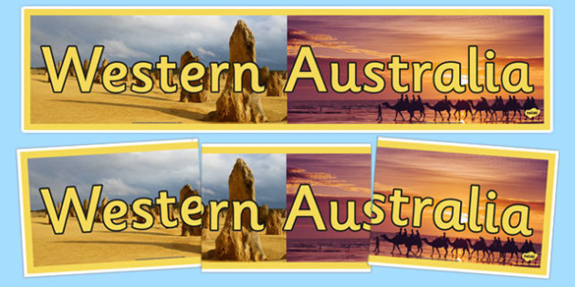 Western Australia Display Banner - States and Territories, WA, Western Australia, display