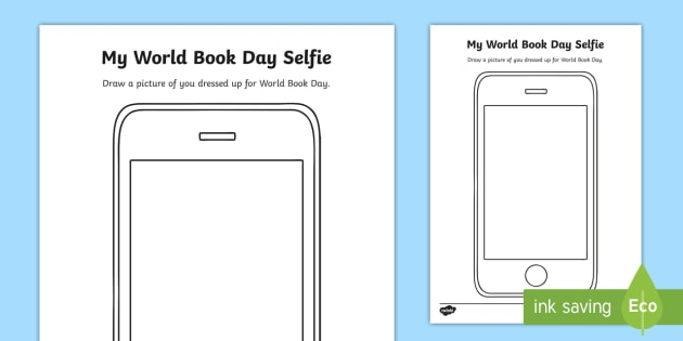 world book day selfie worksheet