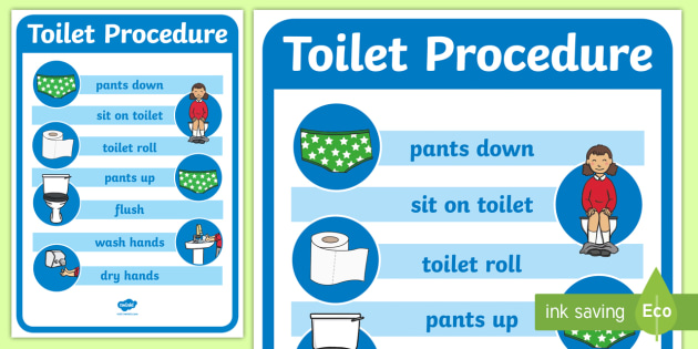 Toilet Procedure Poster - toilet procedure, class management, behaviour