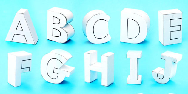 T-T-19683-3D-Display-Letters-Paper-Models  D Phi Paper Letter Template on printable box, cut out,