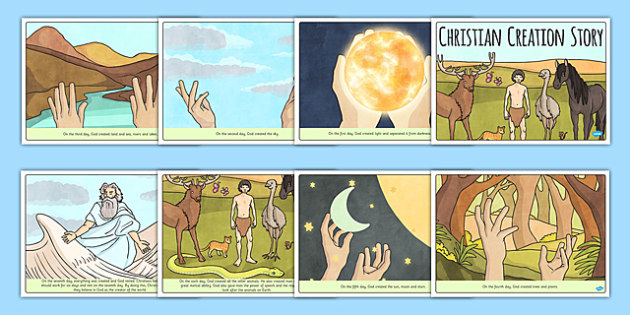 Christian Creation Story - religion, RE, religious education