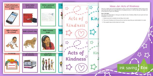 Ideas Jar Acts Of Kindness Teacher Made