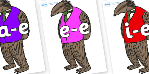 Modifying E Letters on Badger to Support Teaching on Fantastic Mr Fox - Modifying E, letters, modify, Phase 5, Phase five, alternative spellings for phonemes, DfES letters and Sounds