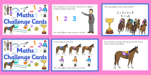 The Melbourne Cup Themed Maths Challenge Cards - australia, melbourne cup, maths, challenge, cards