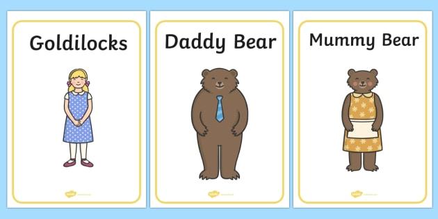 Goldilocks and the Three Bears Display Posters - goldilocks and the three bears, display posters, goldilocks themed posters, goldilocks posters