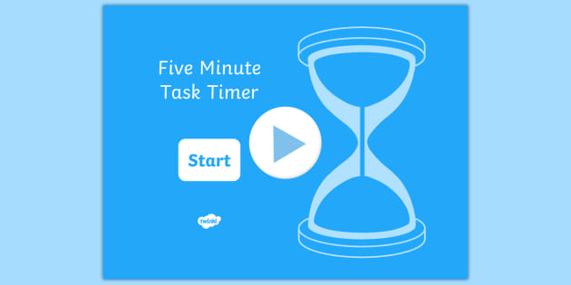 5 Minute Task Timer PowerPoint - visual aid, presentation