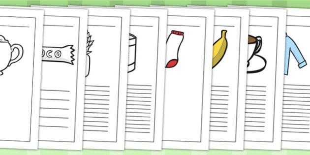 Fairtrade Writing Frames - writing template, fair trades, food