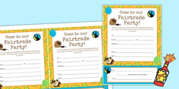 Fairtrade Fortnight Event Invitation - fairtrade, event, invite
