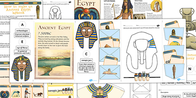Ancient Egypt Lapbook Creation Pack - egypt, lapbooks, pack, book