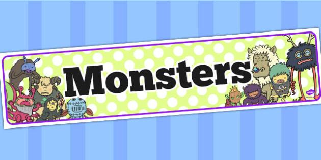 Monsters Display Banner - monsters, display banner, display