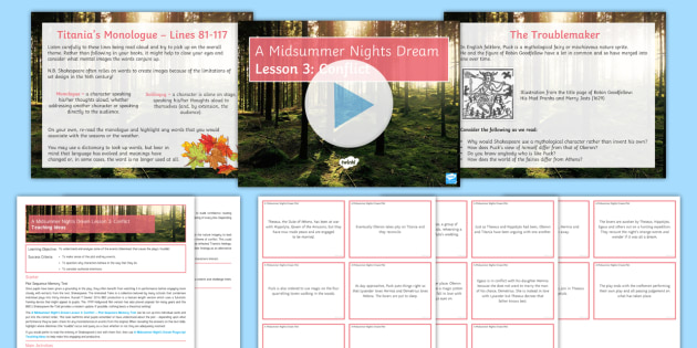 A Midsummer Nights Dream Lesson Pack