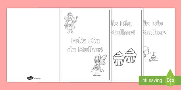Postais De Colorir Do Dia Da Mulher Teacher Made