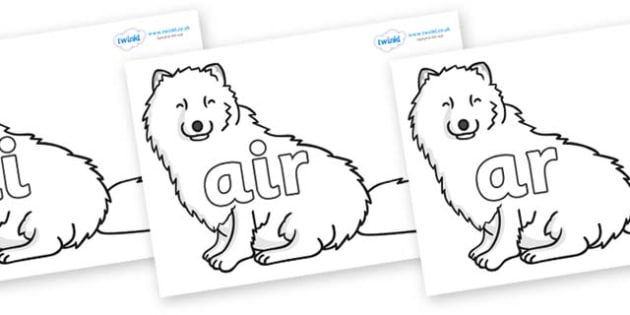 Phase 3 Phonemes on Arctic Foxes - Phonemes, phoneme, Phase 3, Phase three, Foundation, Literacy, Letters and Sounds, DfES, display