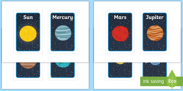 NEW * Our Solar System Planets Group Name Prompt Tolsby Frame