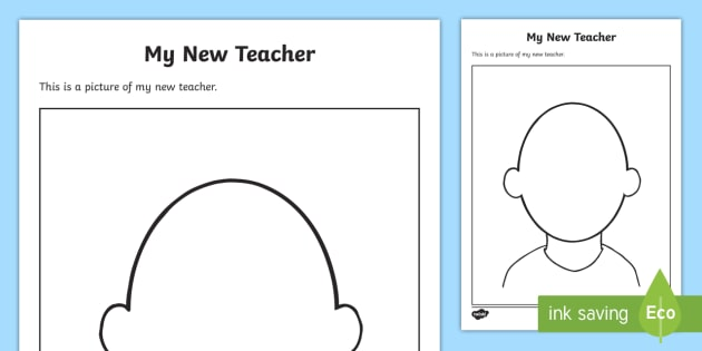 My New Teacher Early Level Worksheet / Activity Sheet - CfE Back