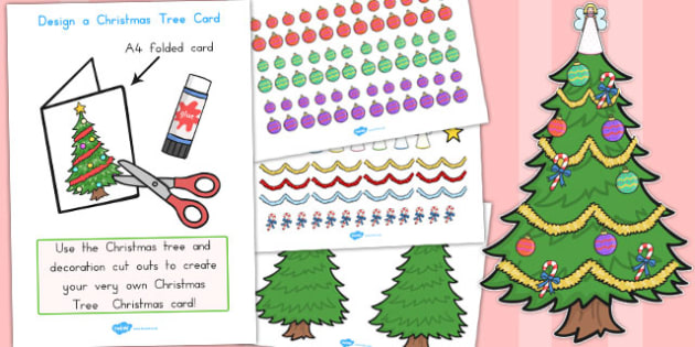 design your own christmas tree card australia christmas card